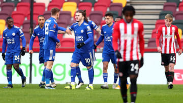 Leicester were given a scare by Brentford