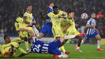 Brighton and Arsenal played out a goalless draw amid dreary conditions that reflected the threat offered by the visitors