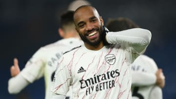 Lacazette scored the winner against Brighton in midweek