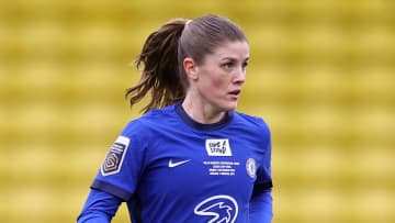Maren Mjelde was injured in the Conti Cup final