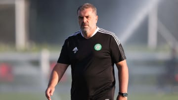 Ange Postecoglou will take charge of Celtic in a competitive game for the first time