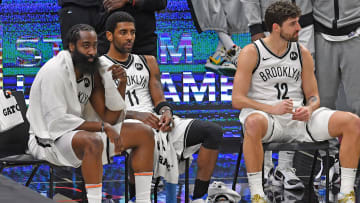 James Harden, Kyrie Irving, Joe Harris