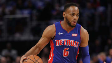 DETROIT, MI - OCTOBER 17:  Bruce Brown #6 of the Detroit Pistons plays against the Brooklyn Nets during the home opener at Little Caesars Arena on October 17, 2018 in Detroit, Michigan. NOTE TO USER: User expressly acknowledges and agrees that, by downloading and or using this photograph, User is consenting to the terms and conditions of the Getty Images License Agreement. (Photo by Gregory Shamus/Getty Images)