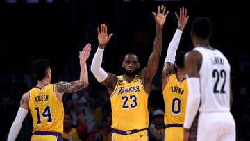 LeBron James, Danny Green, Kyle Kuzma