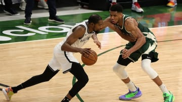 Kevin Durant and Giannis Antetokounmpo will face off with the season series on the line.