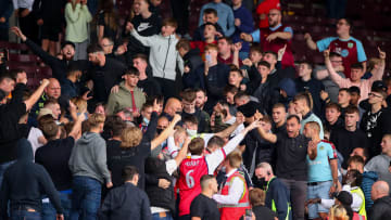 Rival Burnley & Arsenal fans clashed at Turf Moor