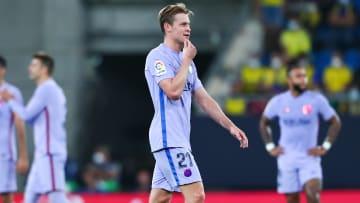 Frenkie de Jong was shown a red card