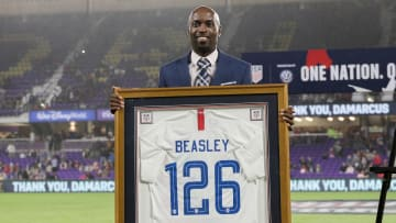 DaMarcus Beasley receiving an honor for his efforts to the USMNT