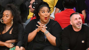 Lizzo at the Lakers, Timberwolves game
