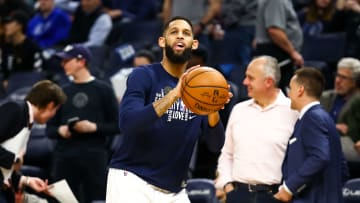 Allen Crabbe earlier during the 2019-20 season with the Timberwolves