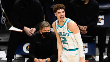 LaMelo Ball. Fired up.
