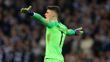 Kepa remonstrates with the bench