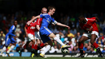 Josh McEachran takes on Paul Pogba: the two would go on to have very different careers
