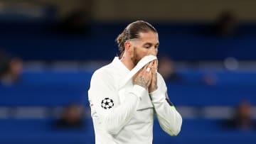 Sergio Ramos en su último partido con el Real Madrid