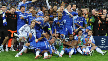 Chelsea celebrate their Champions League win in 2012