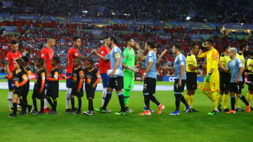 Chile against Uruguay in Copa America Brazil 2019