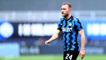 Christian Eriksen met with Inter staff and team mates