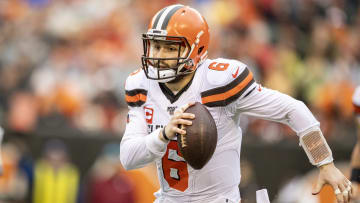 Cleveland Browns quarterback Baker Mayfield during a game against the Cincinnati Bengals.