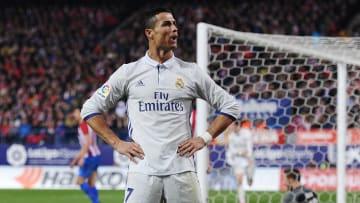Cristiano Ronaldo não poderia ficar de fora   Club Atletico de Madrid v Real Madrid CF - La Liga