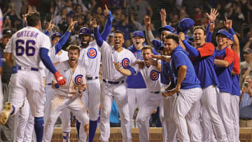 The Chicago Cubs finally celebrated at home
