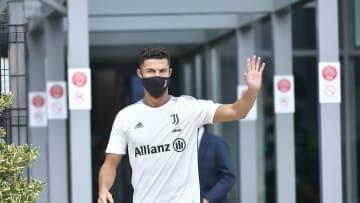 Cristiano Ronaldo Arrives Back In Turin