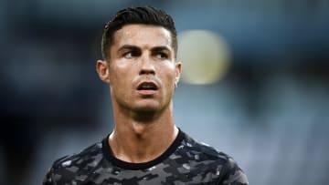 Cristiano Ronaldo à l'entraînement avec la Juventus Turin cette saison