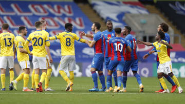 Crystal Palace and Brighton & Hove Albion players came together in the latest instalment of their heated rivalry in a 1-1 draw at Selhurst Park