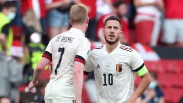 Hazard and De Bruyne were both injured in Belgium's last game