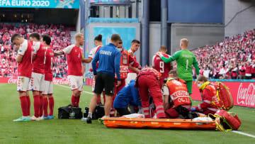 Christian Eriksen fue atendido y está en el hospital