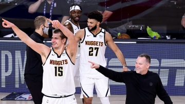 The Nuggets celebrate