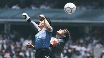 Maradona's handball against England remains one of football's most infamous goals