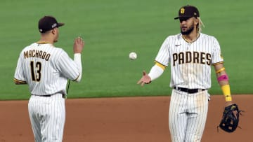 Manny Machado and Fernando Tatis Jr., Division Series - Los Angeles Dodgers v San Diego Padres - Game Three