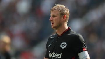 Hinteregger im Bundesligaspiel gegen seinen Ex-Klub, dem FC Augsburg