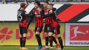 Frankfurts Sturm war an allen vier Toren direkt beteiligt.