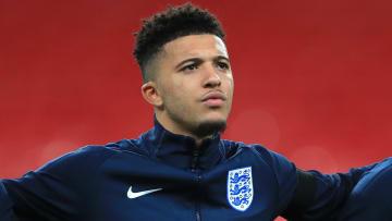 Jadon Sancho lining up for England