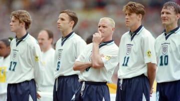Le flow des Anglais de Gasoigne (au centre) lors de l'Euro 96.