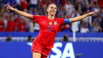 Alex Morgan during the England vs USA Semi Final in the 2019 FIFA Women's World Cup France