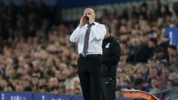 Dyche on the touchline