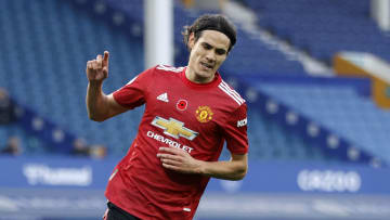 Edinson Cavani opened his Premier League goalscoring account for Manchester United in just his third appearance in the competition