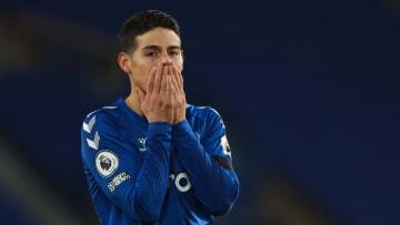 James Rodriguez avec Everton cette saison en Premier League