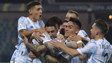 FBL-2021-COPA AMERICA-ARG-ECU - Argentina celebrates the victory against Ecuador.