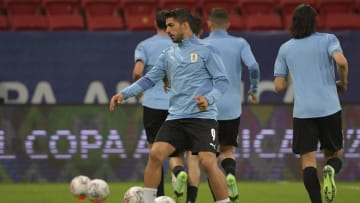 Uruguay training ahead of the match against Argentina
