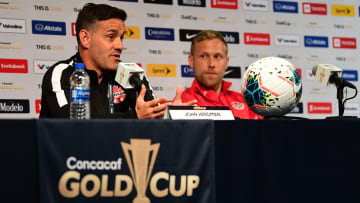 Canadian head coach John Herdman during a Gold Cup press conference