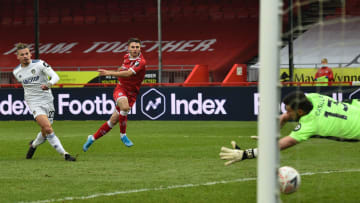 Tsaroulla's wonderful strike got Crawley on their way against Leeds