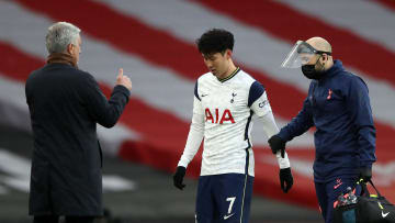 Son Heung-min went off early against Arsenal