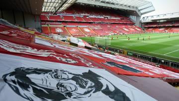 The Kop is famous for its banners and flags