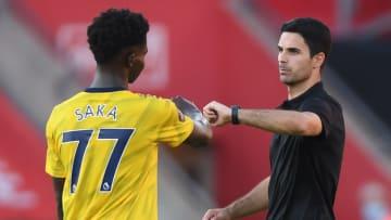Mikel Arteta will Bukayo Saka schonen, wenn sich die Chance bietet (v.r.)