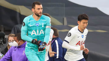 Lloris and Son were involved in an unlikely fight at half-time