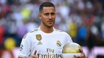 Hazard se reapresentou ao Real Madrid nesta terça-feira