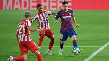 Lionel Messi face à l'Atletico Madrid.